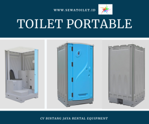 Toilet Portable Biru Muda